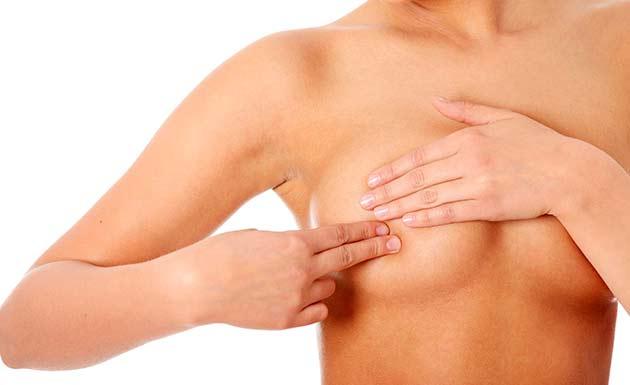 kræftknude i brystet